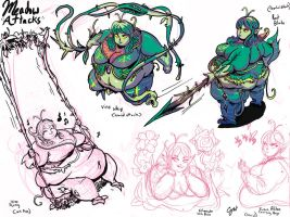 Meadow Attack Concept Sketches by Guts-n-Glory