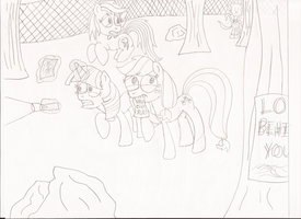 My Little Slender: Friendship is Lost in the Woods by EpIcLuKo8D