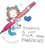 Thanks for 7K Pageviews by wolfsouled