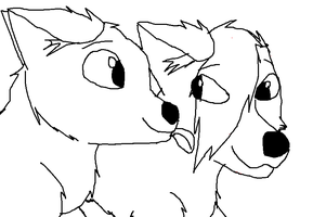 Furry Lick Outline base by wolfmad123