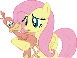 Flutters and trollbird vector by 10MarioBrosmaster