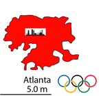 Atlanta Olympic map by TrevLafoe