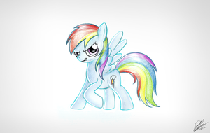Rainbow Dash Scan by Dori-to