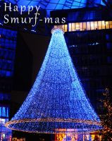 Smurfmas Tree by ThoughtMemory