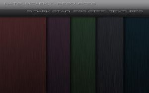 5 Dark Stainless Steel Textures by Natsum-i