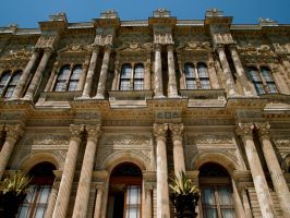 The facade of Dolmabahce Palace by jacobjellyroll