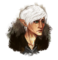 fenris portrait by riasaur
