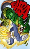 DBZ Vegeta vs Cell by Leackim7891