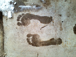 Wet Footprints by HappiestBarefoot