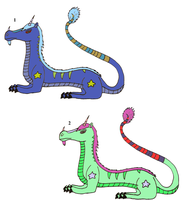 Maned Dragon Adoptables -Now only 2 points each- by Zoruaofepic