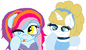 Gift:Pretty Princess and Mermaid by cottoncloudyfilly