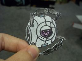 Portal 2 Paperbot- Fact Sphere by koala823