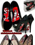 Pin up Nurse Heels by artsyfartsyness