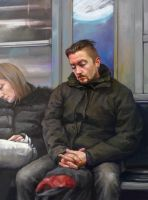 series: people in the subway (italy) by Tiesei