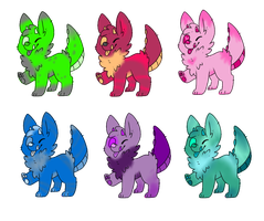 Monster Puppy Adopts (NAME YOUR PRICE) by raptorbutts-adopts