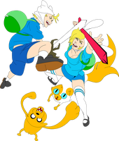 Adventure Time - Finn and Fionna by Ryoni-Zero