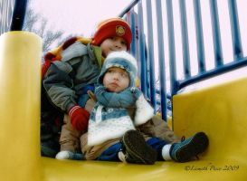 Kids at the playground by Capricuario