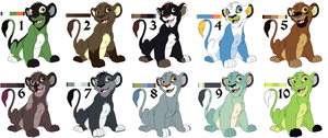 Lion Adopts - 7 left by smudge-92