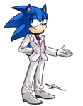 Sonic in a Suit by ProSonic