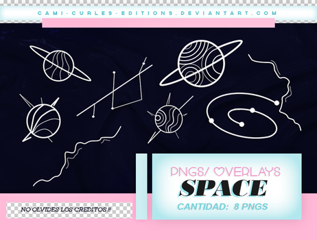 +RECURSOS: Pngs/Overlays - SPACE/PLANETS by CAMI-CURLES-EDITIONS