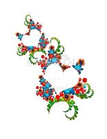 Colorful Heart Shape Floral Art by roup14