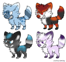 (MIXED PRICED) Canine Adopts ## OPEN ## by Russia-Love