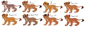 Lion King Cub Adopts 3 CLOSED by Ronaai