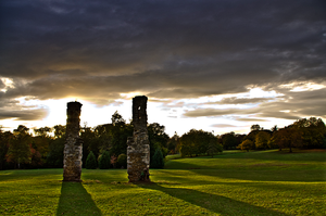Abington park at sunset by yatesmon