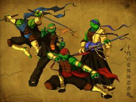 TMNT FEUDAL ERA PAINT by Wrath-of-Vader