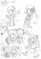 Random Pokemon sketches by firehorse6