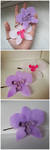 Orchid Hairclips by judithchen