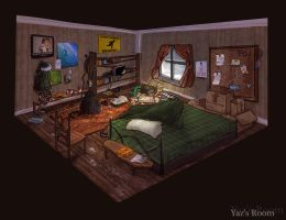 Yaz's Room Concept Art by Pheoniic