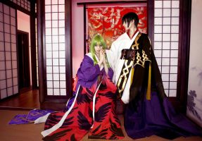 Code Geass: Lelouch/C.C. CLAMP kimonos 4 by Green-Makakas