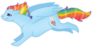 MLP Rainbow Dash by silveredraincloud
