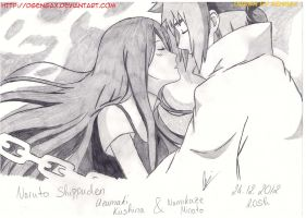 Minato and Kushina kissing moment :3 by DGengax