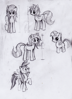Pony Sketches by Nac0n