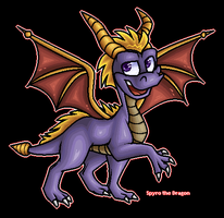Spyro the Dragon by angelasamshi