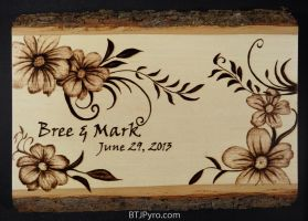 Wedding date - woodburning by brandojones
