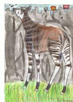 Okapi longs for freedom by Lebannalim