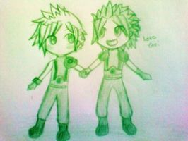 Chibi Cloud and Zack! by candy-spazz-tabby