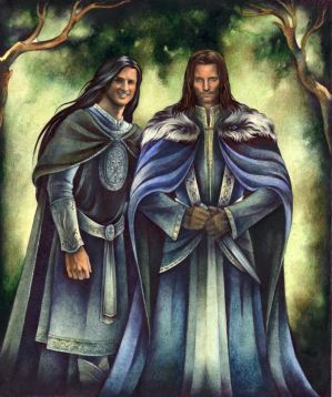 Aragorn and Eldarion by ebe-kastein