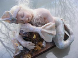 Arctic Mermaid, ooak art doll by zoux-art