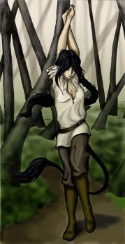 Aishia in the Woods by shamus
