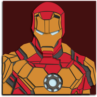 Commission:  Iron Man Shadowbox Mockup by The-Paper-Pony