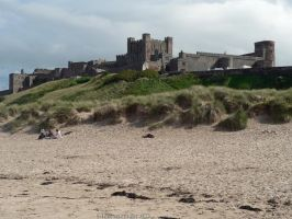 bamburgh Castle UK seaside by Hansmar