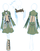 Steampunk outfit draft Female by Auska-Nova