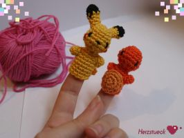 Pokemon-fingerdolls by Herzstueck-Handmade