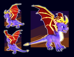 Spyro 3d model WIP (UPDATED version) by Goophou