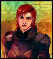 Mass Effect - Shepard by lux-rocha