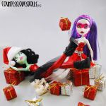 scarah and spectras christmas by Countess-Grotesque